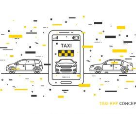 taxi app concept design vector 02