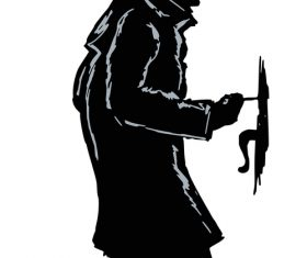 theif criminal silhouette vector