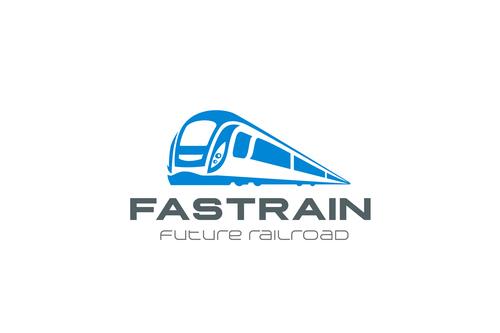 train railroad transport logo vector