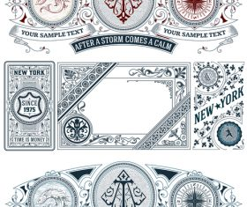 vintage decor labels template vector design 02