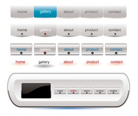 white wedsite menu button vector