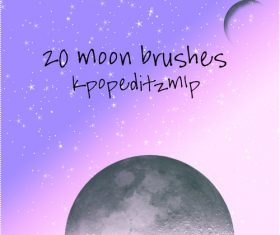 20 Moon Photoshop Brushes