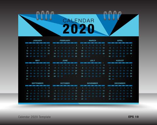 Layout Calendario 2020.2020 Calendar Template Layout Design Vector 01 Free Download
