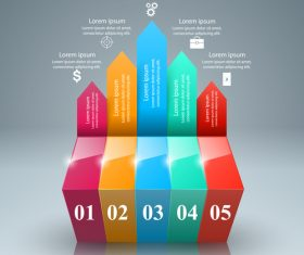 3d arrows abstract infographic vector 01