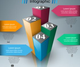 3d box infographic vector 01