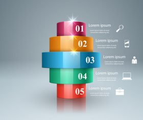 3d light line infographic vector 02