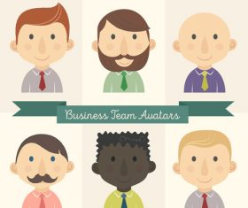 6 business team characters avatar vector