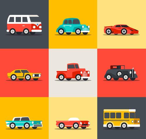 9 creative vehicles vector design