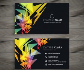 Abstract black business card template creative vector
