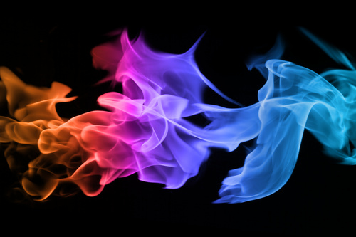 Abstract colored flame Stock Photo 03