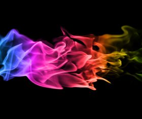 Abstract colored flame Stock Photo 04