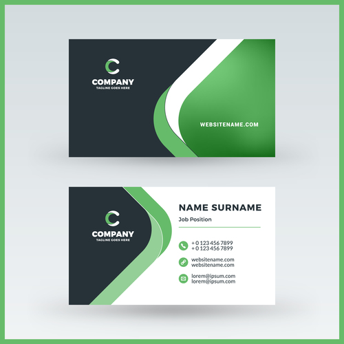 Abstract green business card template vector 01 free download abstract green business card template vector 01 wajeb Gallery
