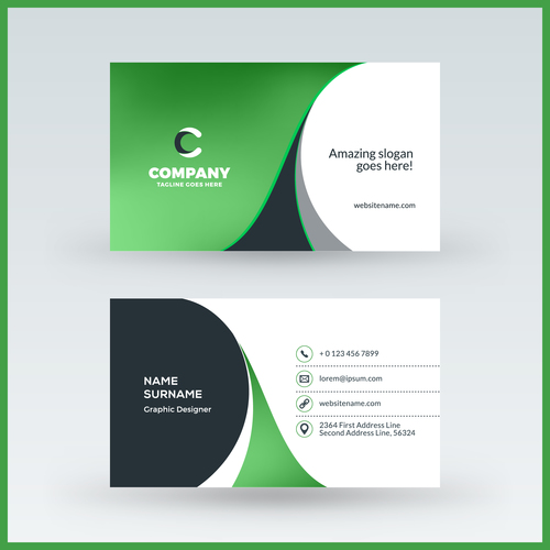 Abstract green business card template vector 02 free download abstract green business card template vector 02 friedricerecipe Images