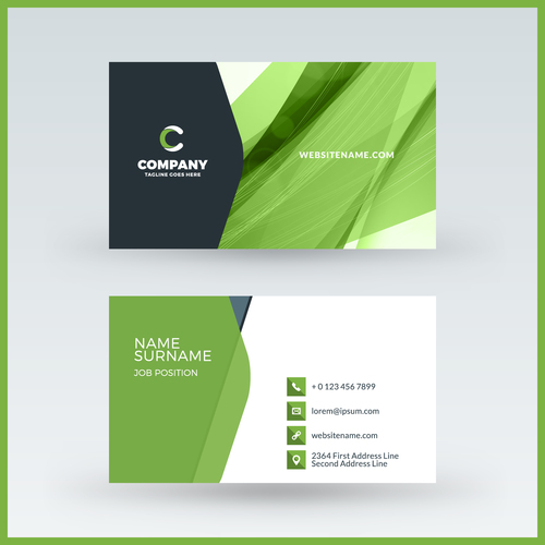 Abstract green business card template vector 05 free download abstract green business card template vector 05 friedricerecipe Images
