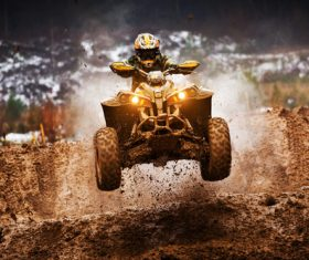 All terrain vehicle competition Stock Photo 01