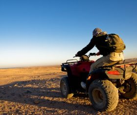 All terrain vehicle riding tour Stock Photo 01