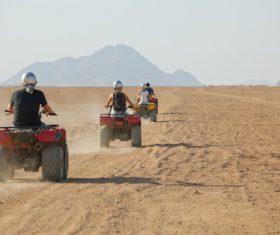 All terrain vehicle riding tour Stock Photo 02