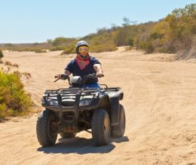All terrain vehicle riding tour Stock Photo 03
