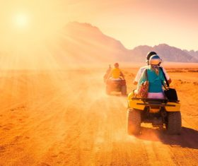 All terrain vehicle riding tour Stock Photo 04