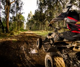 All terrain vehicle riding tour Stock Photo 05