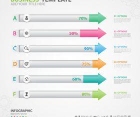 Arrow options infographics elements diagram vector 02