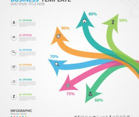 Arrow options infographics elements diagram vector 06