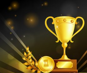 Awards realistic vector material