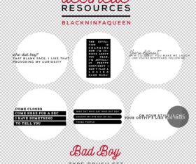 Bad Boy Type Photoshop Brushes