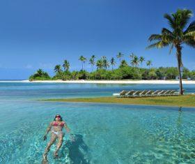 Bahamas sea view Stock Photo 02