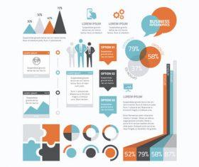 Basic business infographics vector