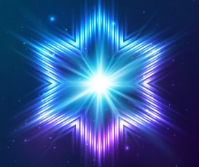 Beautiful cosmic snowflake background vectors 02