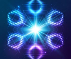 Beautiful cosmic snowflake background vectors 03