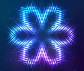 Beautiful cosmic snowflake background vectors 04