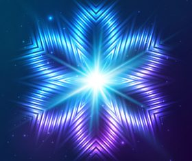 Beautiful cosmic snowflake background vectors 05