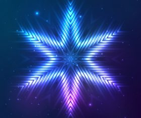 Beautiful cosmic snowflake background vectors 07
