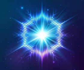 Beautiful cosmic snowflake background vectors 08