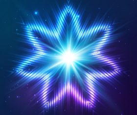 Beautiful cosmic snowflake background vectors 09