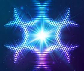 Beautiful cosmic snowflake background vectors 10