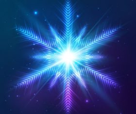 Beautiful cosmic snowflake background vectors 14