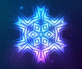 Beautiful cosmic snowflake background vectors 16