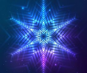 Beautiful cosmic snowflake background vectors 17