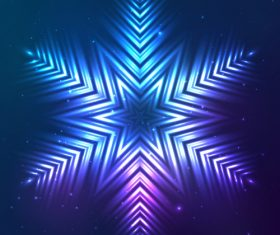 Beautiful cosmic snowflake background vectors 18