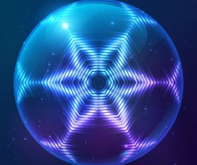 Beautiful cosmic snowflake background vectors 19