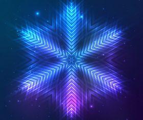 Beautiful cosmic snowflake background vectors 20