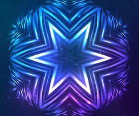 Beautiful cosmic snowflake background vectors 22