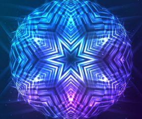 Beautiful cosmic snowflake background vectors 23