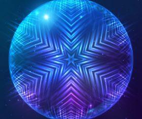 Beautiful cosmic snowflake background vectors 24