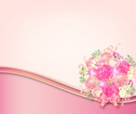 Beautiful flower greeting card template vector 03