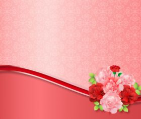 Beautiful flower greeting card template vector 08