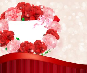 Beautiful flower greeting card template vector 09